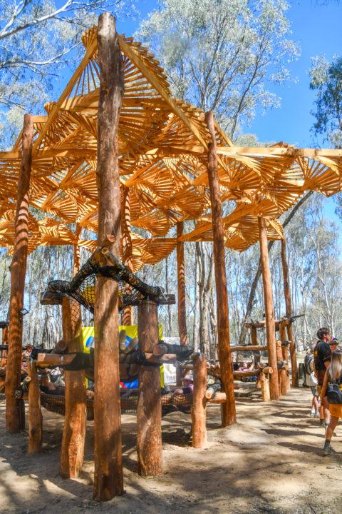 Strawberry Fields Festival art hammoch structure installation music festival