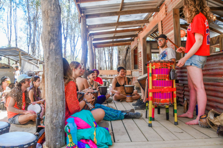 Strawberry Fields Festival bongo drum class festival workshops and activities