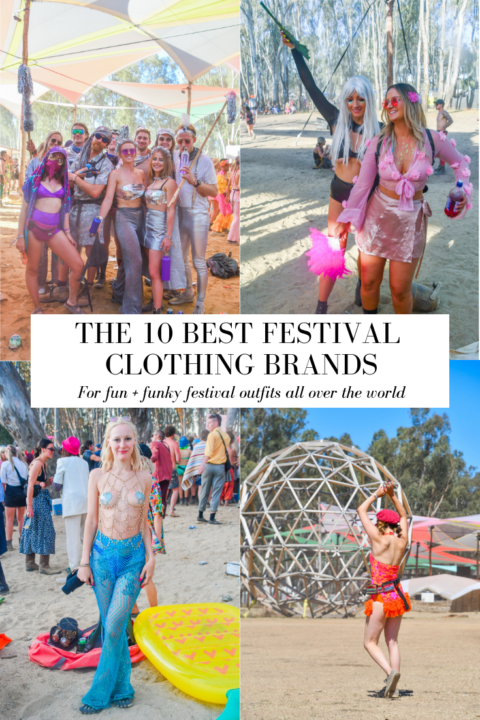 The best festival clothing brands for fun + funky festival outfits all over the world