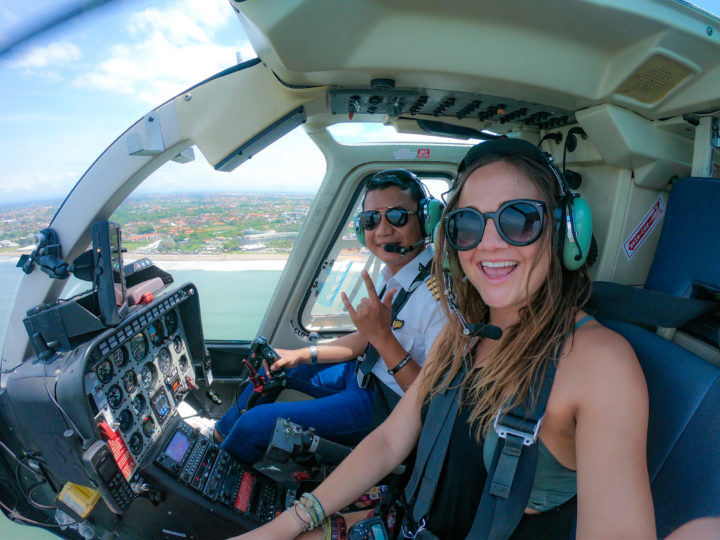 go pro selfie bali helicopter
