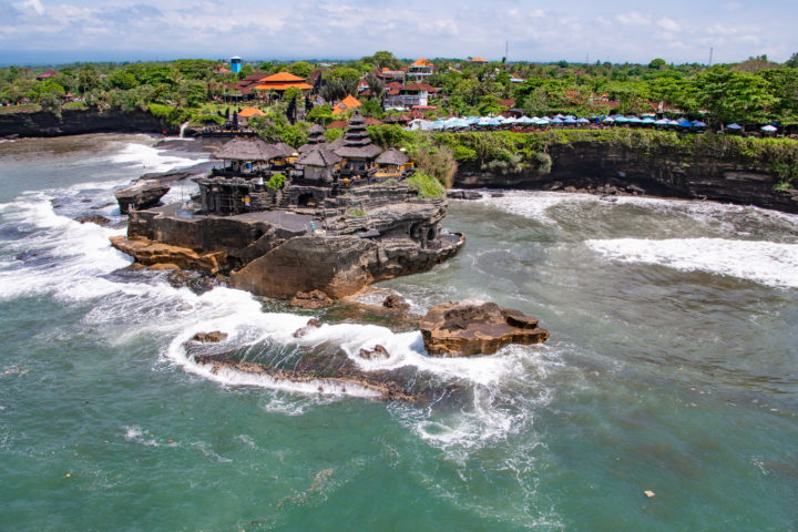 tanah lot temple from the sky bali helicopter ride airbali