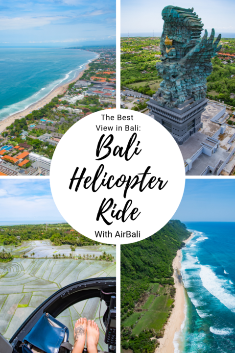 Wondering how to find the best view in Bali? It's from the air! MY Bali helicopter ride was the best way to see the entire island in under an hour - from rice paddies to cliffs to temples to beaches! #bali #indonesia #travel