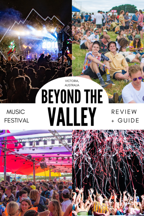 Beyond the Valley is a four day music festival held in Victoria, Australia over New Years. It bring in a massive international lineup as well as having tons of extra activities, swimming, amazing food, and more! #musicfestival #festivalseason #beyondthevalley #australia