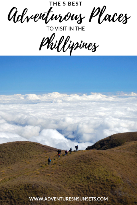 Although often fames for relaxing beaches, there are tons of Phillipines adventures to be had as well. These 5 adventurous places to visit in the Phillipines will be sure to ignite your wanderlust - from diving through shipwrecks and climbing mountains to boating between islands. #phillipines #adventure #southeastasia #asia #travel