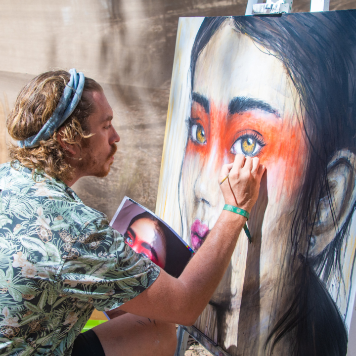 artist painting babylon festival