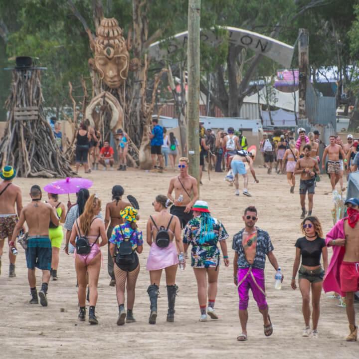 babylon festival entrance