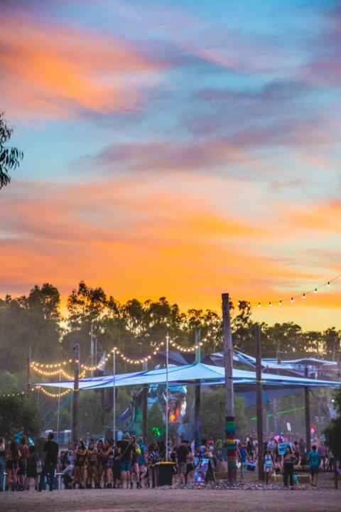 babylon festival sunset