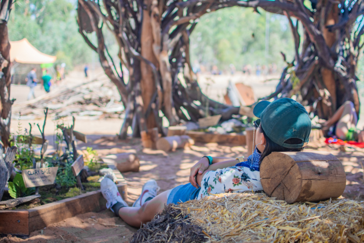 babylon festival relax art installation