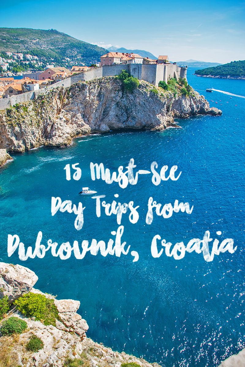 25 amazing day trips from Dubrovnik from the elaphite islands up the coast to the countryside in bosnia + herzegovina to the coasts of Montenegro - these are all Dubrovnik day trips you can take right from the city. #dubrovnik #croatia #travel #daytrips
