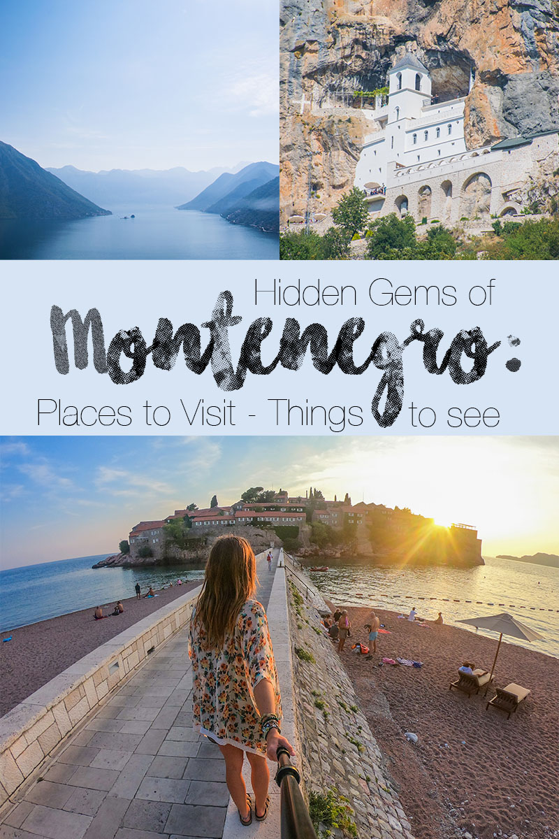 hidden gems of Montenegro: things to do in montenegro organized into a montenegro road trip