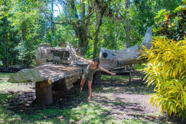 vilu war museum honiara solomon islands WW2 plane