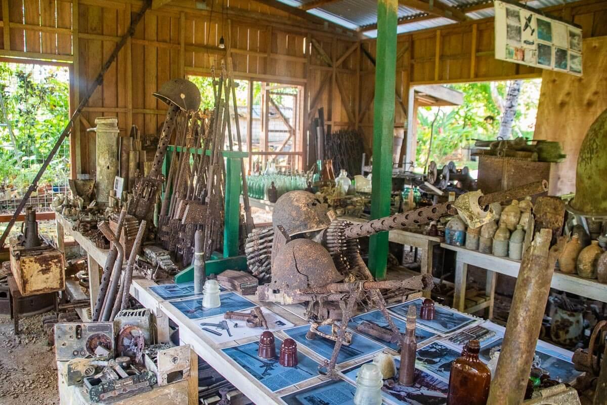 peter joseph museum munda solomon islands WW2 artifacts museum