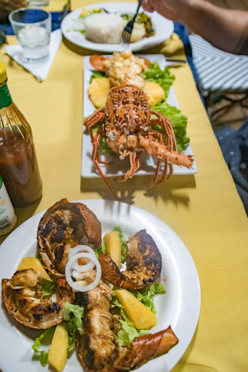 food of the solomon islands - lobster dinner