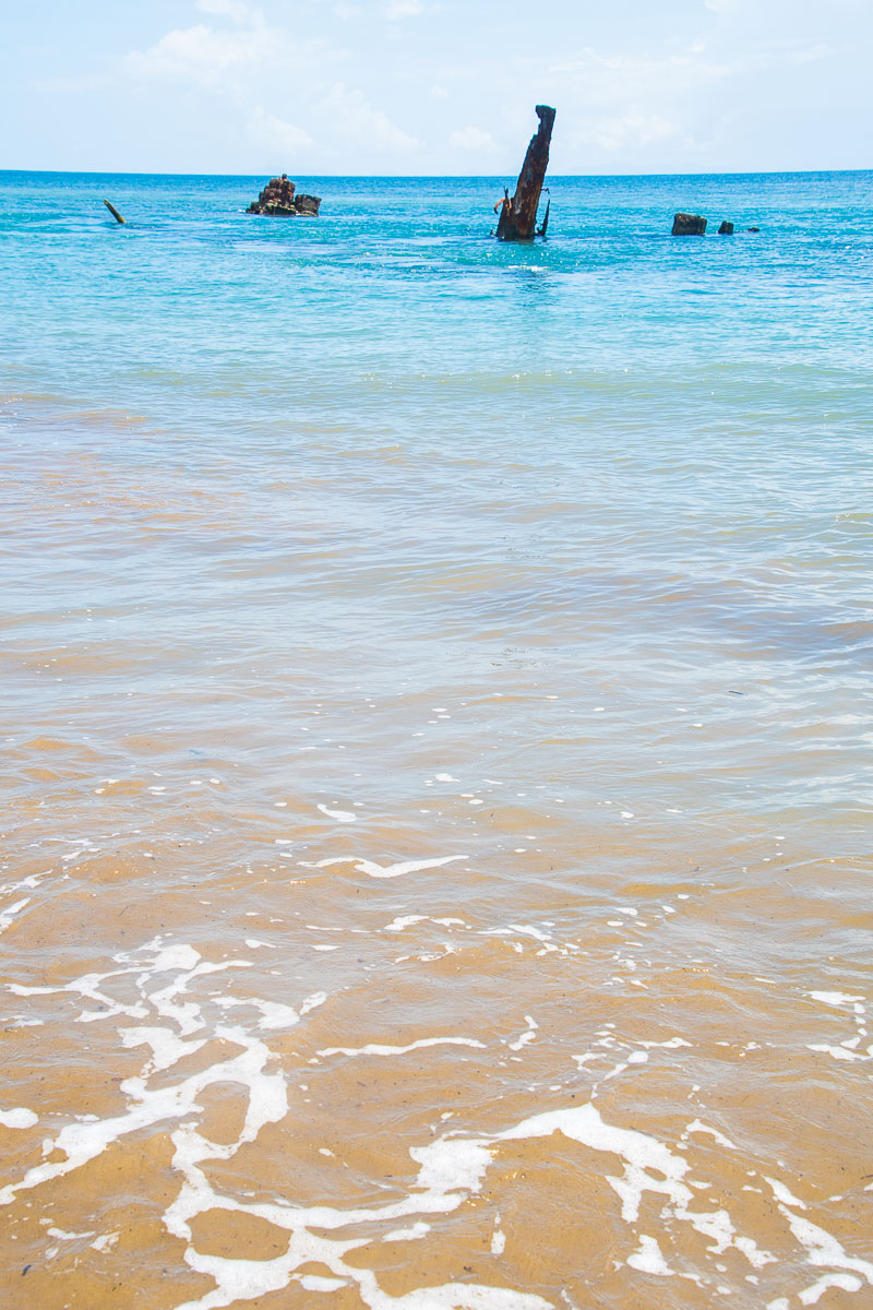 shipwreck bonegi mbonege beach honiara solomon islands