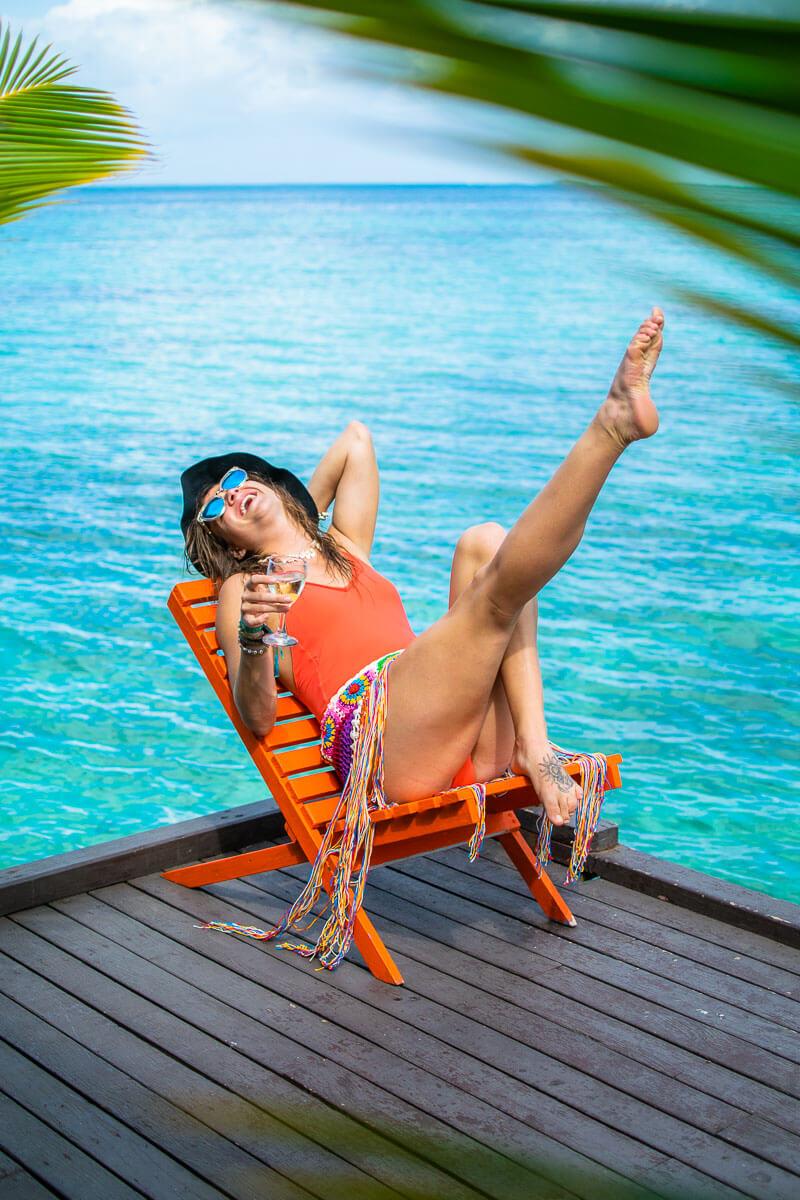 solomon islands relax fatboys resort gizo bikini girl