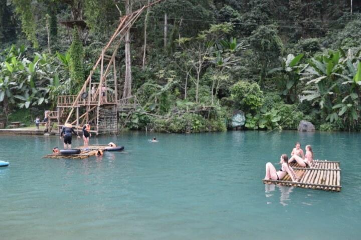 zipline vang vieng laos blue lagoon