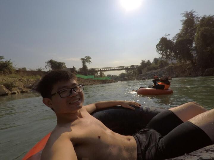 tubing adventures in vang vieng laos