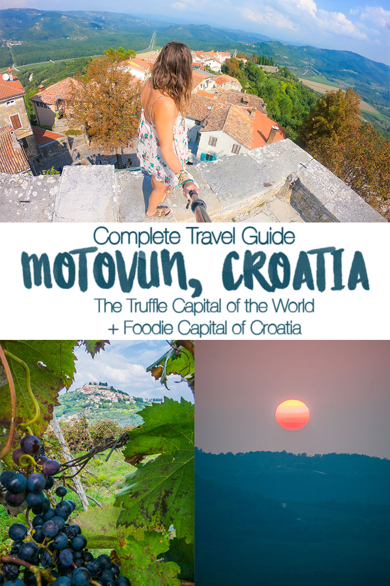 Complete travel guide to Motovun Croatia - in the heart of 'the Tuscany of Croatia,' the Istrian peninsula. Explore the medieval walled hilltop town, taste local wine, and eat LOTS of truffles! #croatia #motovun #Istria