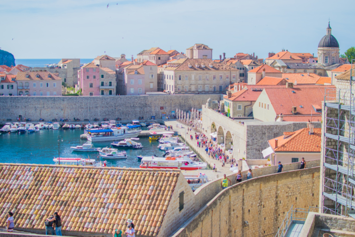 dubrovnik walls view of the old port - starting a balkan itinerary