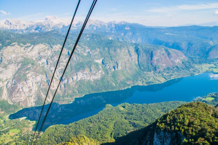 lakw bohinj slovenia from mt vogel cable car