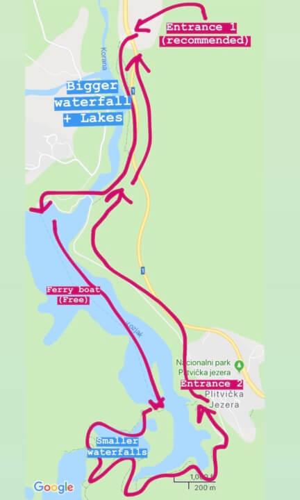 plitvice lakes national park walking route